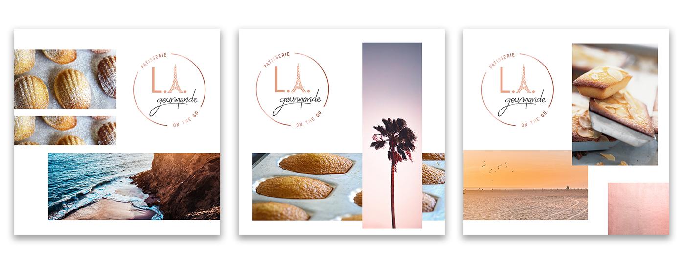 Identité visuelle L.A. Gourmande