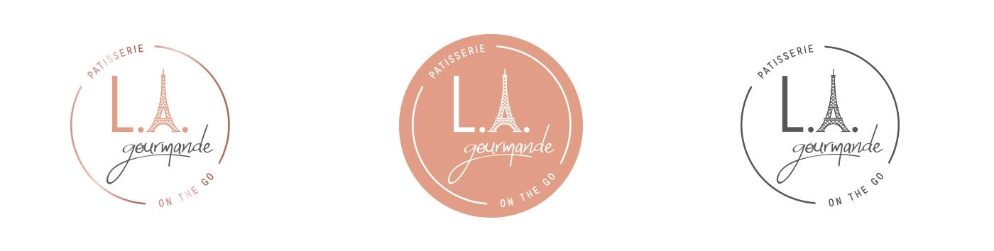 Déclinaison du logo L.A. Gourmande