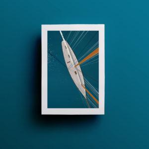 Affiche le voilier 21x29,7 cm