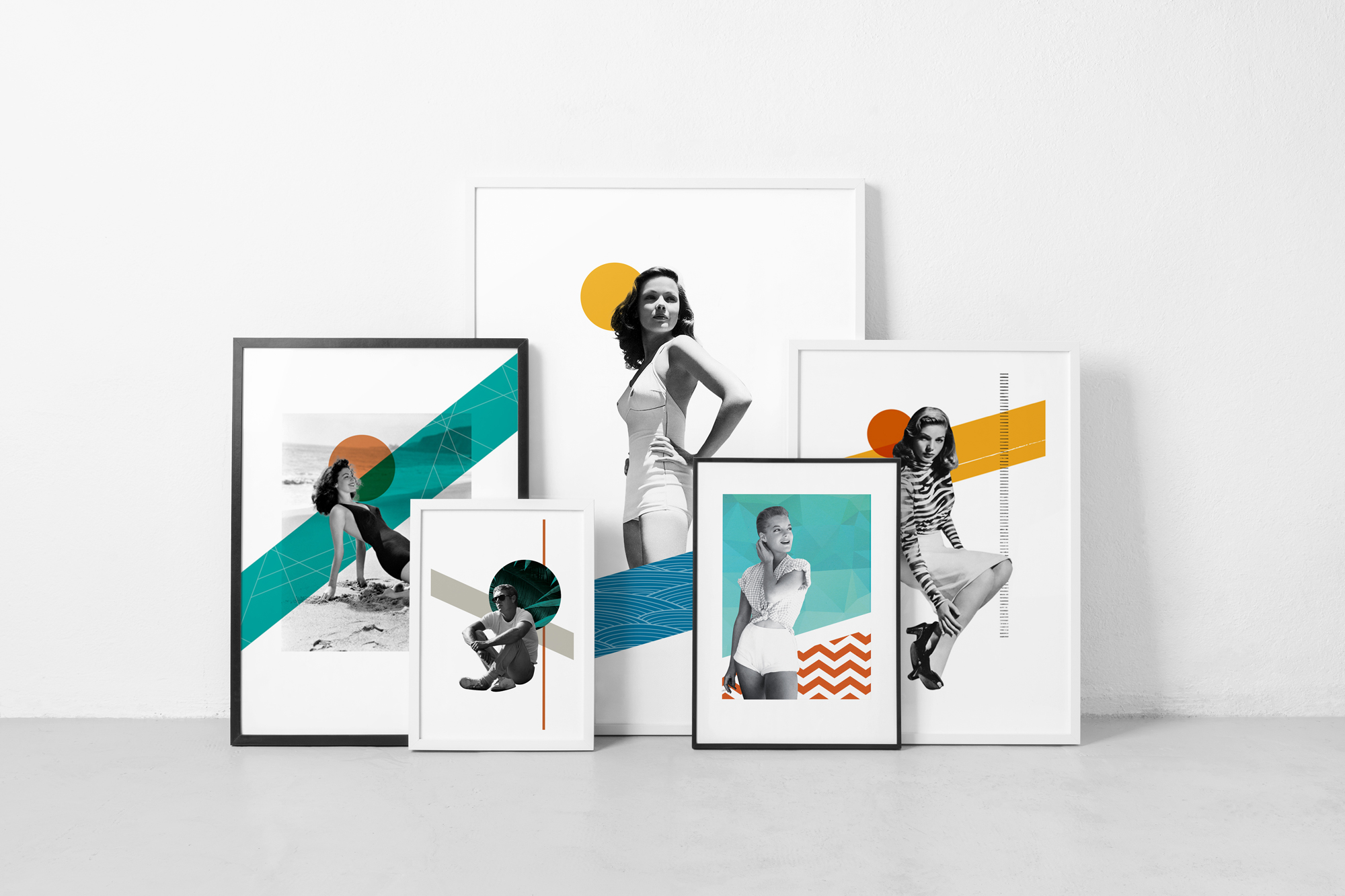 Posters-collages-portraits-collection