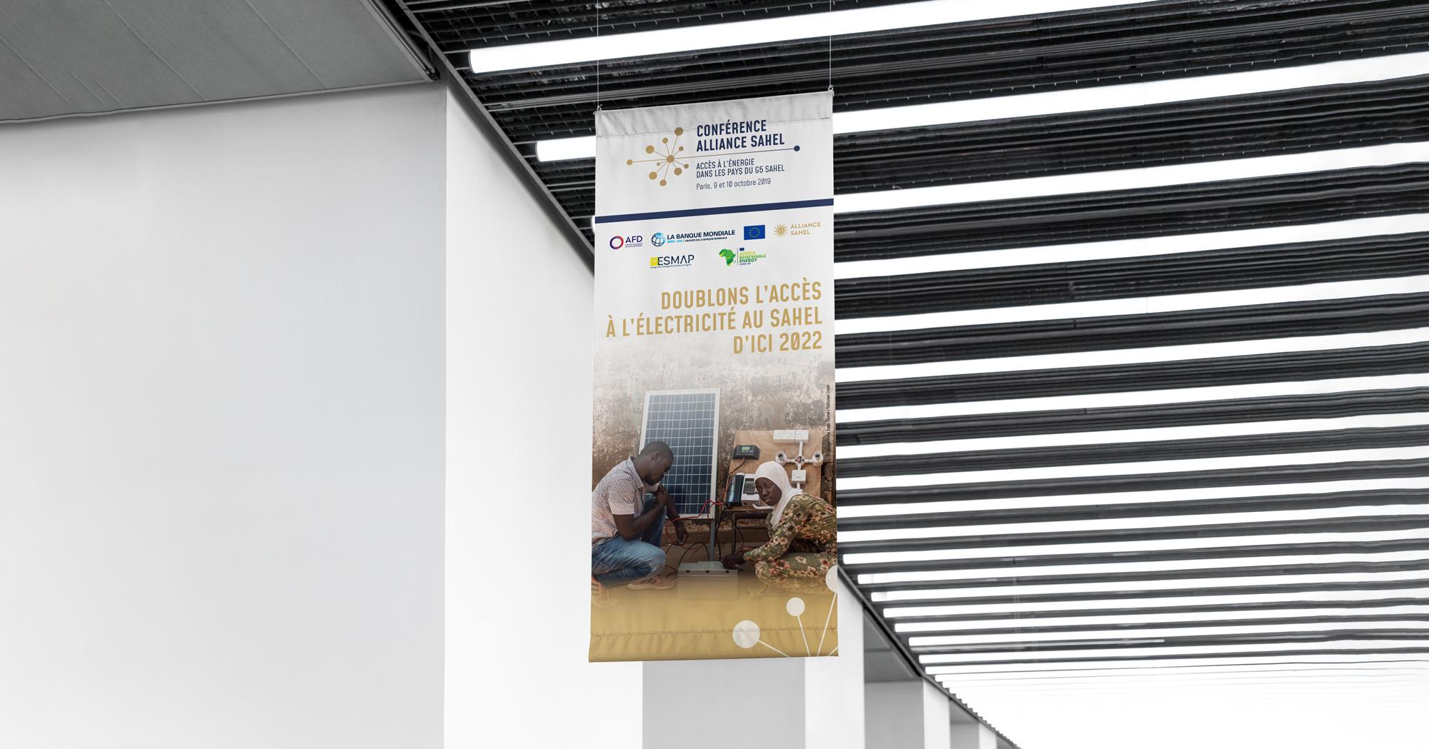 Signalétique Conférence Alliance Sahel