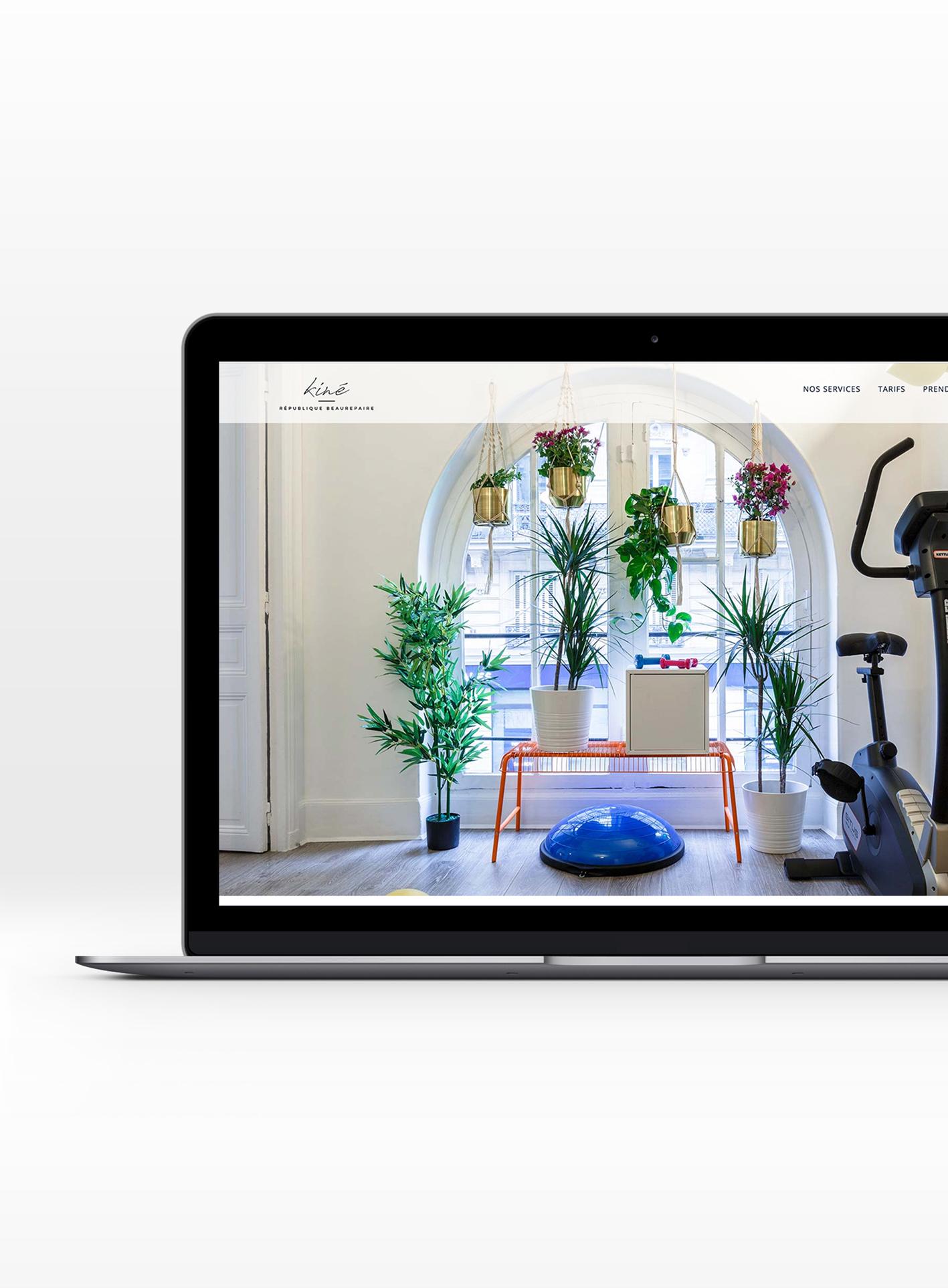 Branding et web design Kiné République Beaurepaire