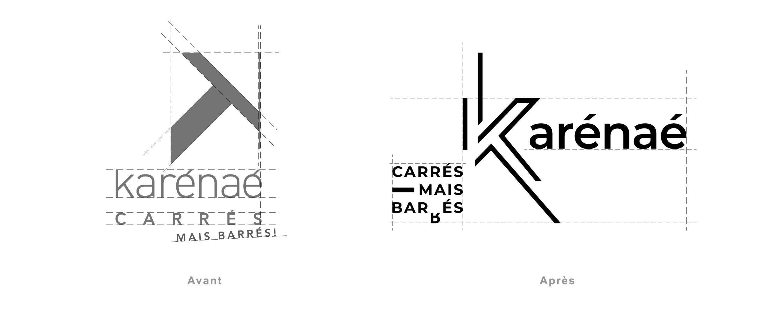KARENAE logo avant-après