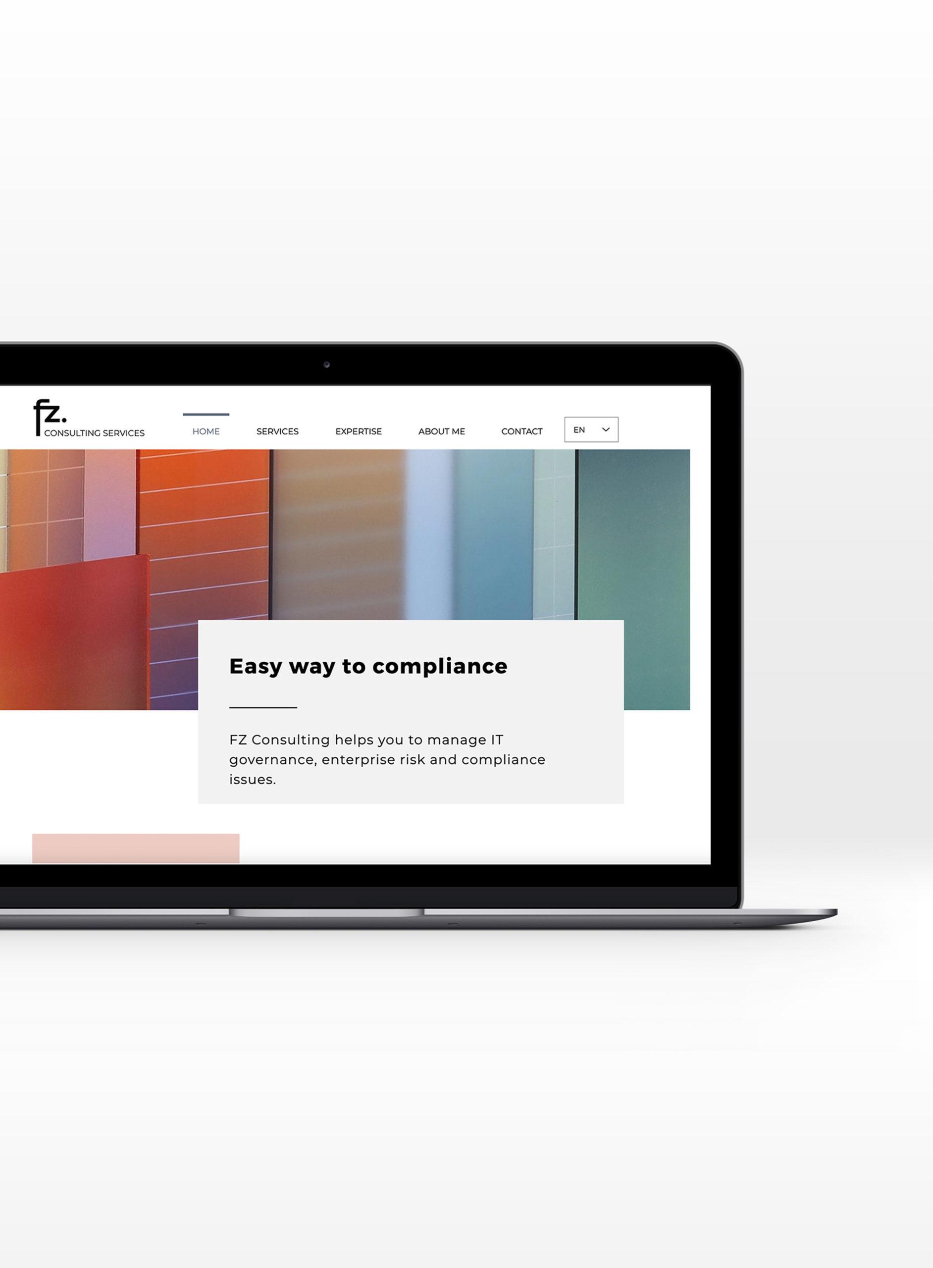 Branding et webdesign FZ Consulting